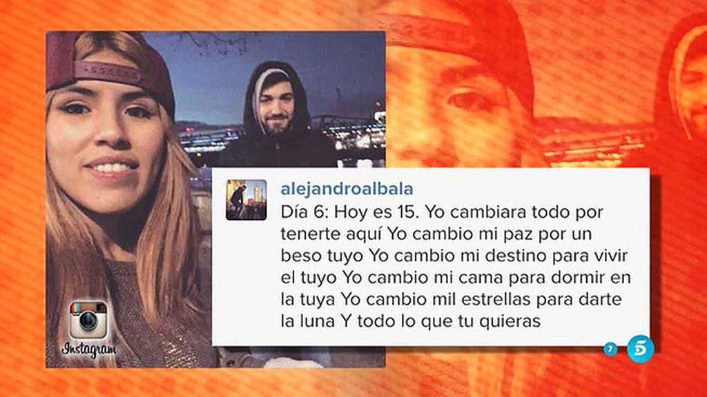 """Alejandro, a Chabelita: """"Cambio mil estrellas para darte la luna y todo lo que tú quieras"""""""