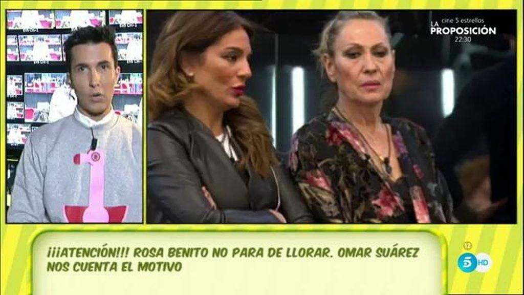 """Omar Suárez: """"Rosa Benito ha estado llorando y ha recibido el apoyo de Laura"""""""