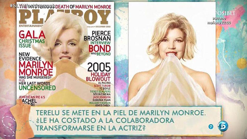 Una portada muy atrevida para Terelu Campos: imitar a Marilyn Monroe en 'Playboy'