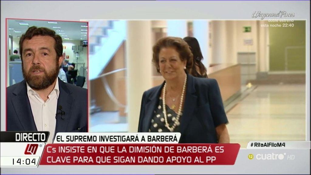 """M. Gutiérrez (C's): """"Si Barberá no dimite o si no se la expulsa, Rajoy no será presidente"""""""