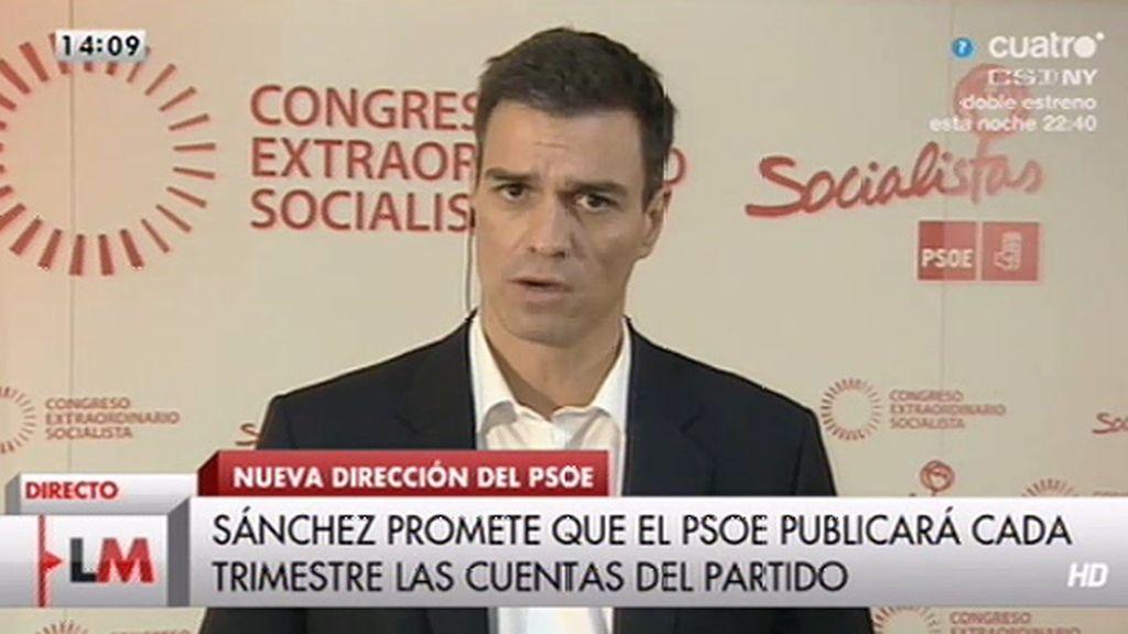 """Sánchez: """"Lo que no podemos hacer es quebrar expectativas de personas humildes que sufren mucho la crisis"""""""