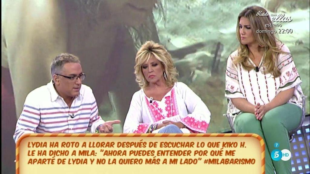 """Kiko Hernández, a Lydia Lozano: """"Hay veces que te adoro y otras que no te entiendo"""""""