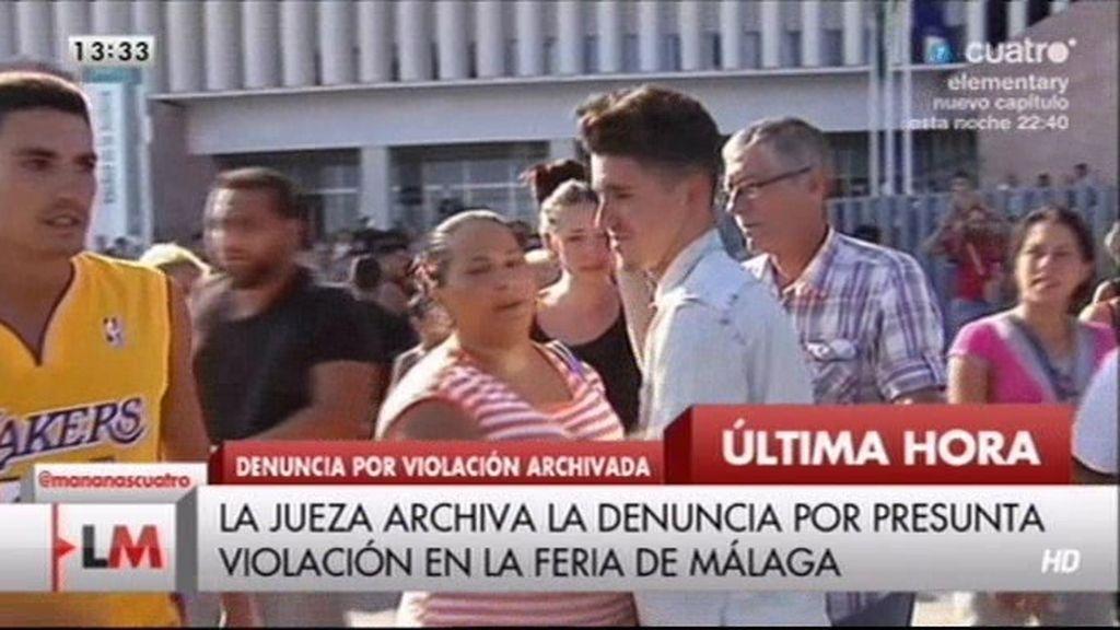 Los presuntos agresores de Málaga, vitoreados tras ser puestos en libertad