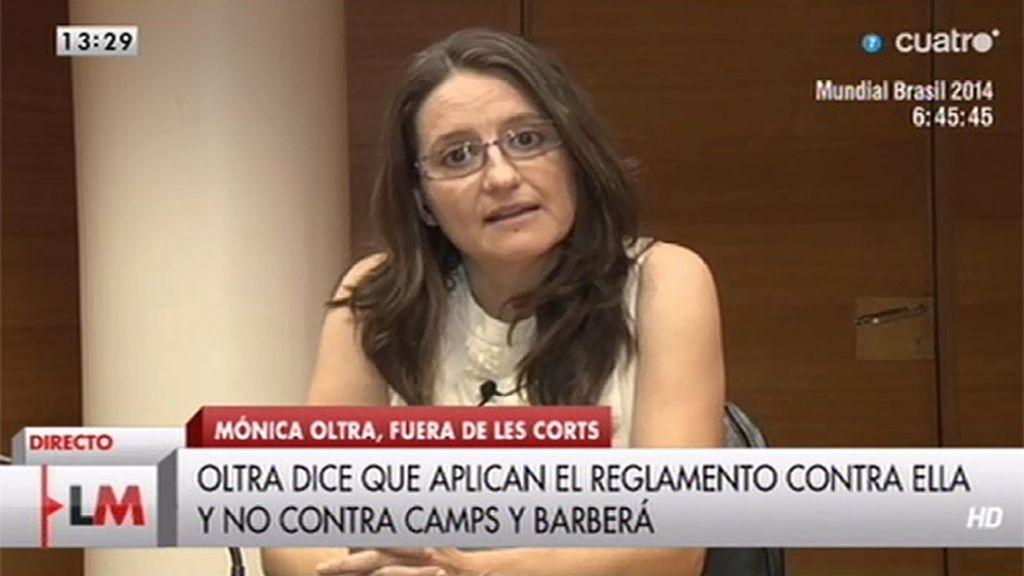 """Mónica Oltra, tras ser suspendida: """"Me voy a empeñar más para luchar por la democracia"""""""