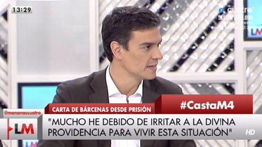 """P. Sánchez: """"Rajoy ha hecho que España entre en una degeneración democrática"""""""