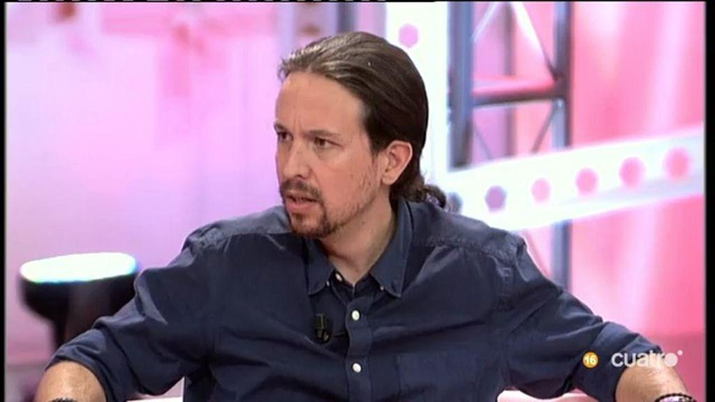 """Iglesias: """"Me veo como el próximo Presidente, pero viviendo en mi casa de Vallecas"""""""