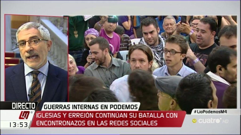 """Gaspar Llamazares: """"No soy partidario de la fusión con Podemos sino de colaborar"""""""