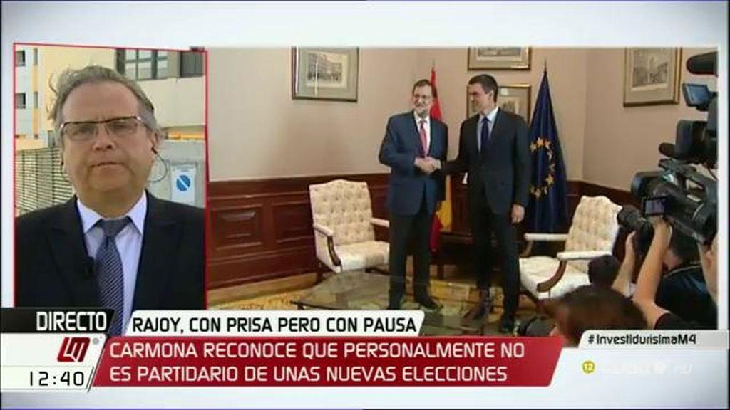 """Carmona: """"Si al final del camino Rajoy sigue fracasando, apuesto porque nos sentemos todos en una mesa"""""""