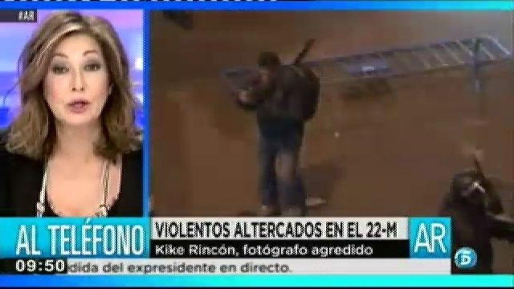 """Kike Rincón, fotógrafo agredido el 22M: """"Ha sido la manifestación más violenta"""""""