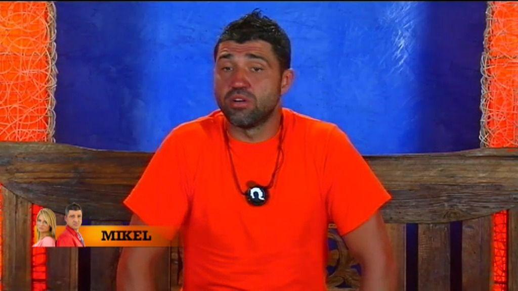 """Mikel, a Sandra: """"He hecho la prueba mal y no te he escuchado"""""""