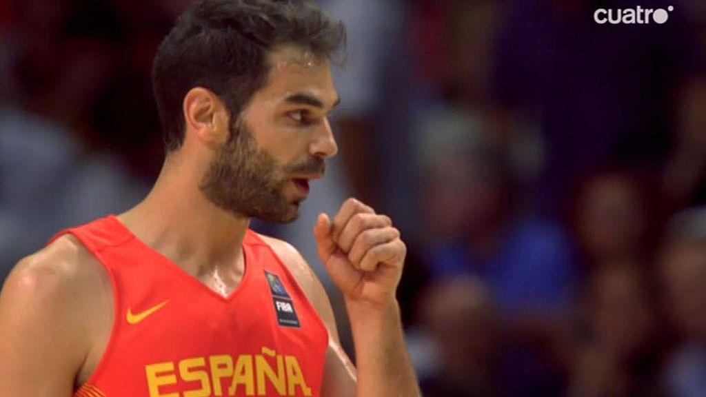 José Calderón rompe el maleficio español en triples con un canastón de tres