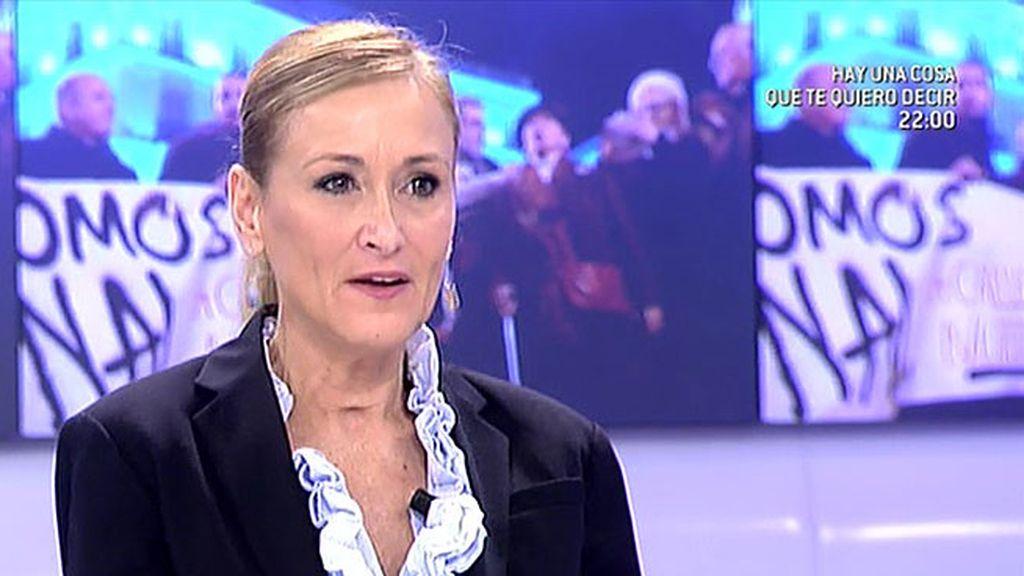 """Cristina Cifuentes, sobre la ley del aborto: """"Estoy a favor de una ley de plazos"""""""