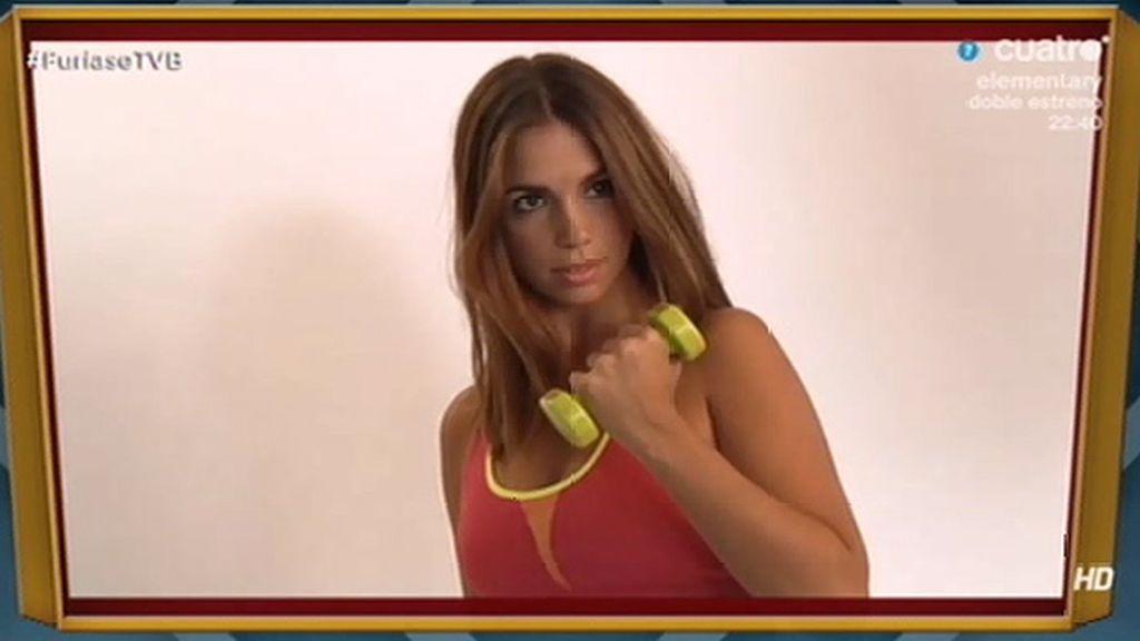 Así fue la sesión de fotos de Elena Furiase para 'Women's fitness'