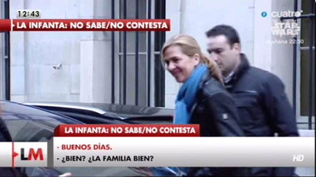 Primeras imágenes, en exclusiva, de la Infanta Cristina tras su declaración