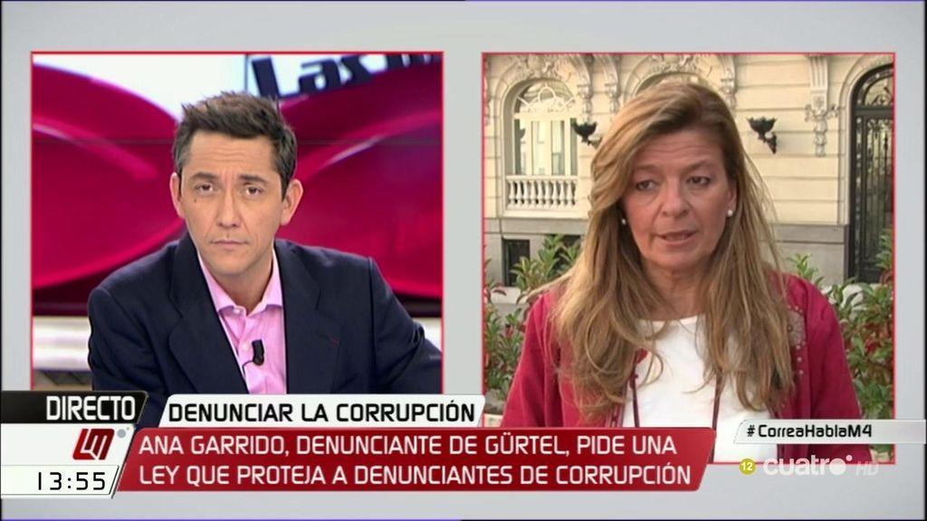 Ana Garrido pide una ley que proteja a aquellos que denuncien la corrupción