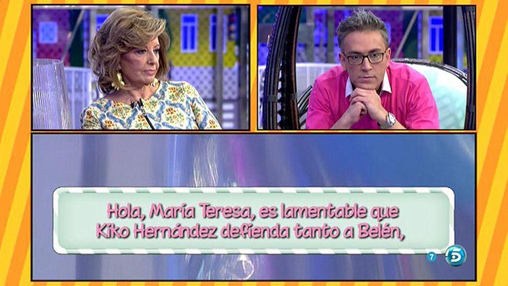 """Kiko Hernández, a la audiencia: """"Como diría Belén, yo por mis amigos ¡Ma - to!"""""""