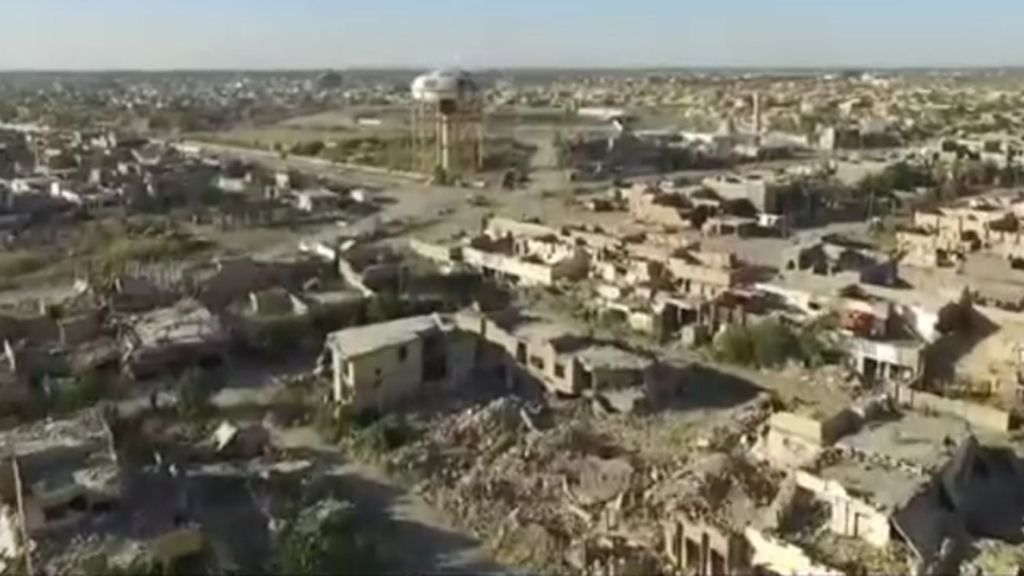 Escombros y ruinas, así se ven las ciudades de Ramadi y Bagdad a golpe de dron