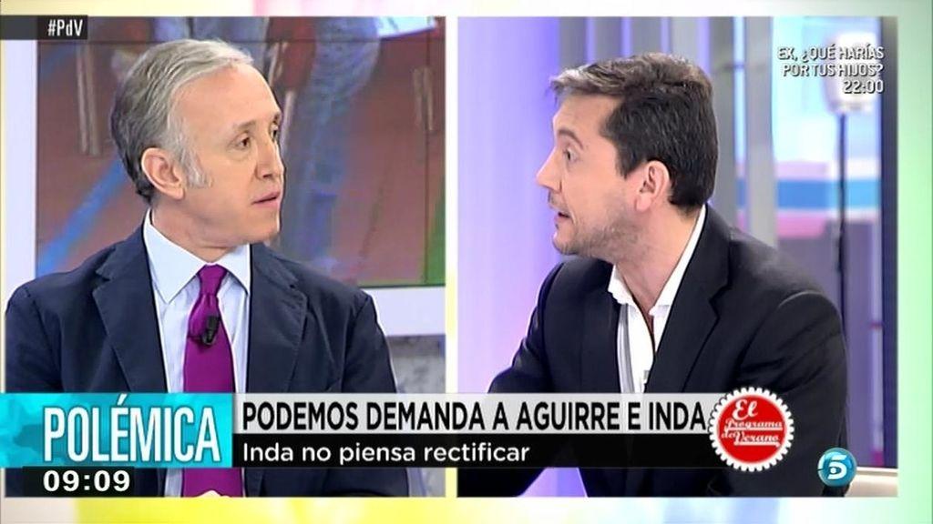 "Eduardo Inda, a Javier Ruiz: ""Tú estás deseando que me condenen"""