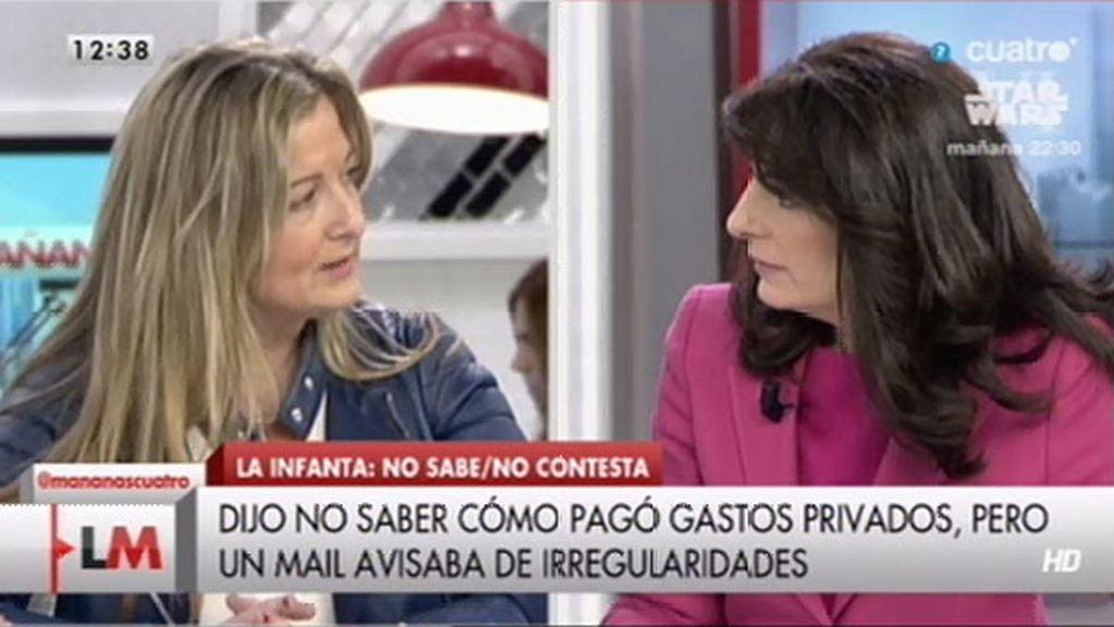"""Almudena Martínez: """"Lo coherente es decir 'no sé, no lo conozco o no me consta"""""""