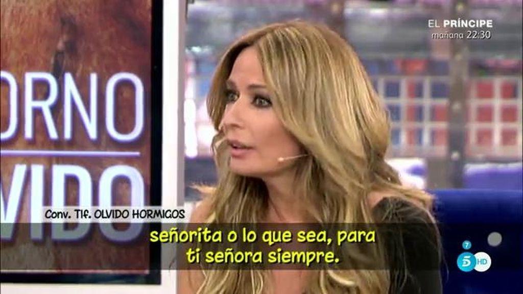 """Olvido Hormigos responde a Belén Esteban: """"He vuelto con Toño y ella es muy celosa"""""""