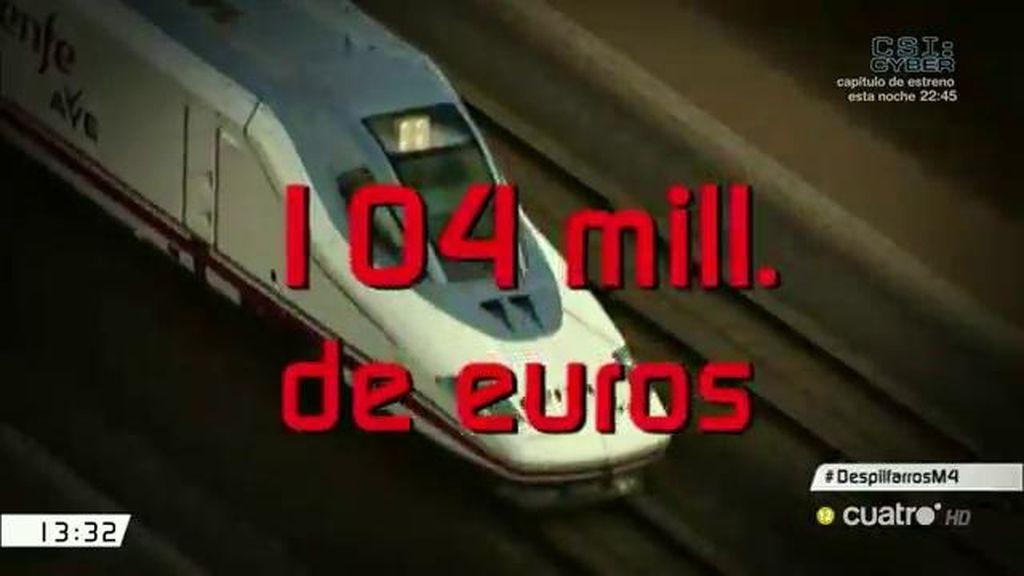 104 millones de euros, el sobrecoste de las obras del AVE en Barcelona