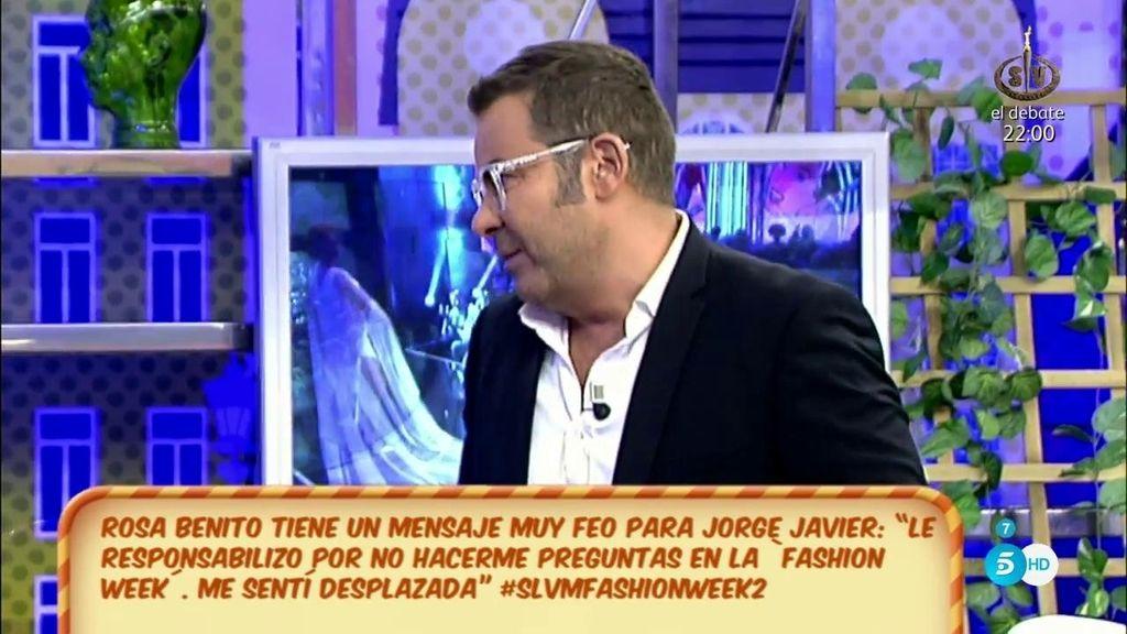 """Jorge Javier Vázquez, sobre Terelu Campos: """"Ayer fue un poco tramposilla"""""""