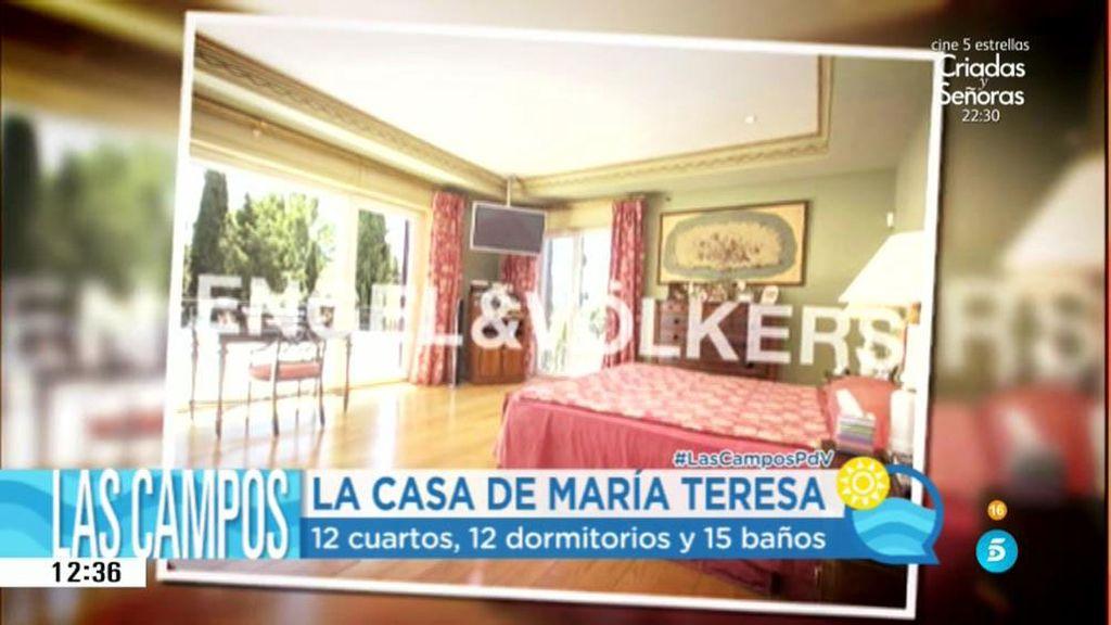12 dormitorios, piscina, ascensor y 15 baños: así es el casoplón de María Teresa Campos