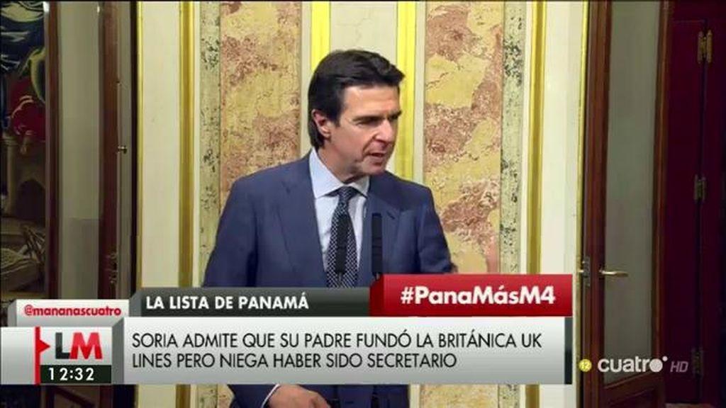 Las  explicaciones de Soria sobre los 'Papeles de Panama'
