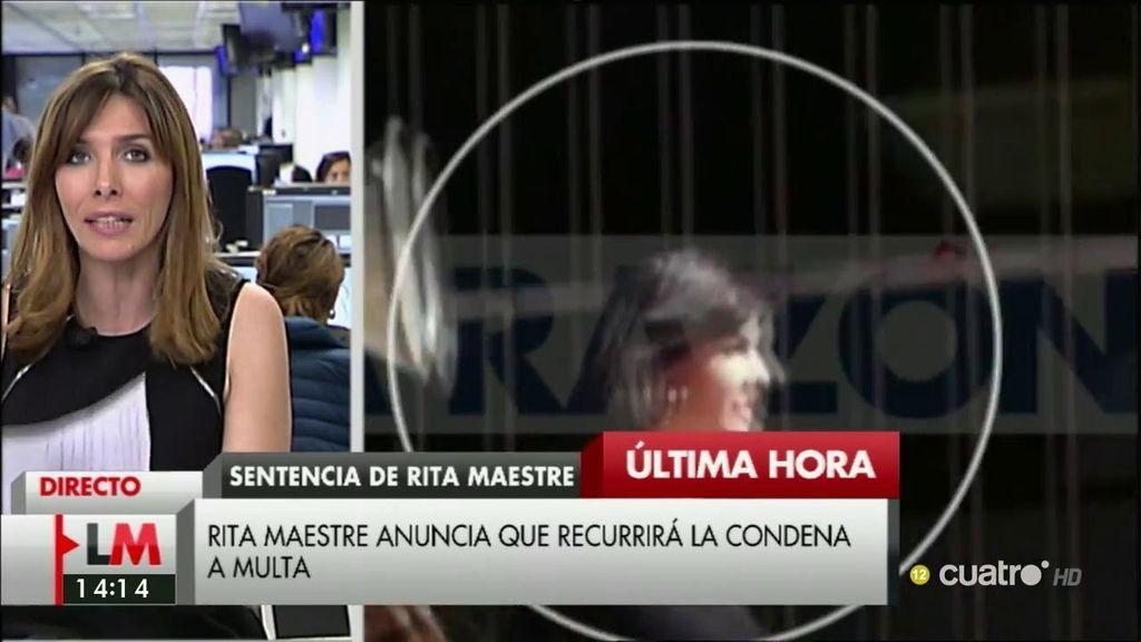 Rita Maestre recurrirá la condena a multa