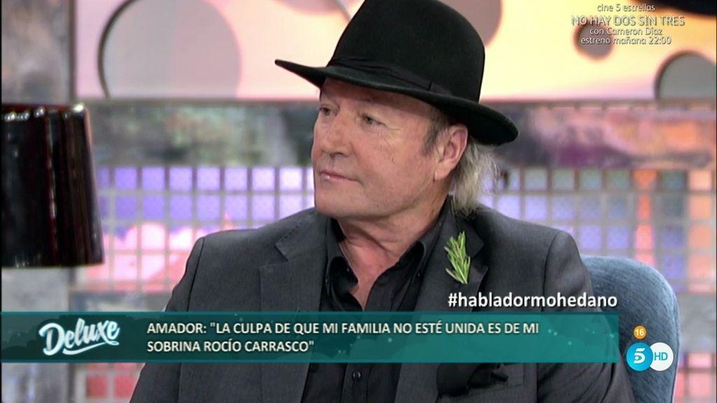 """Amador Mohedano: """"Vengo con el apoyo de José Ortega Cano y Gloria Camila"""""""