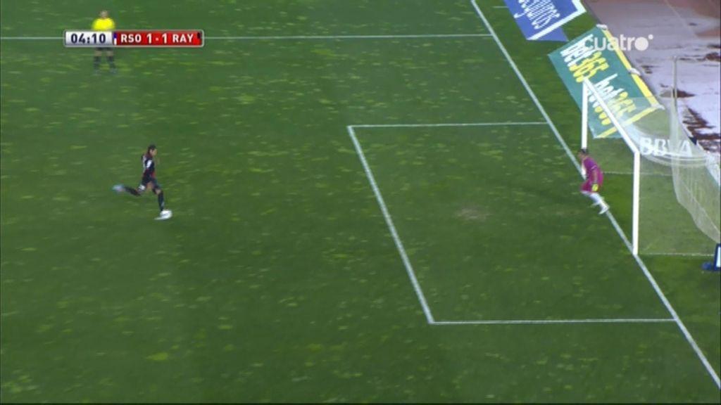 Gol de Larrivey (Real Sociedad 1-1 Rayo)