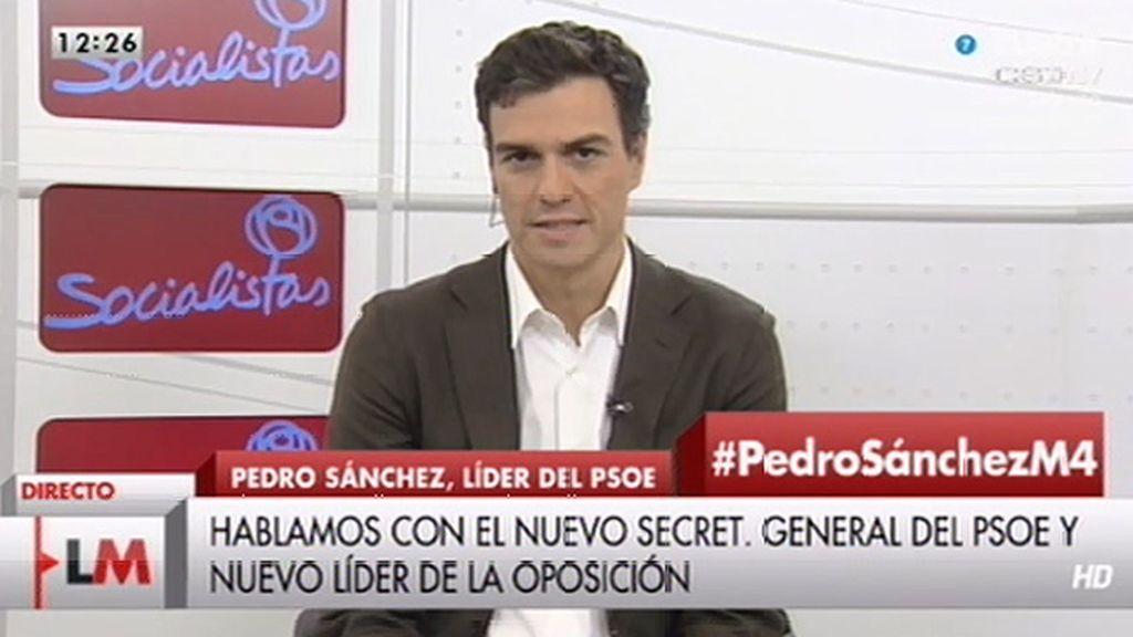 """P. Sánchez: """"Siempre dije que me presentaba para cambiar el PSOE y, con ello, España"""""""