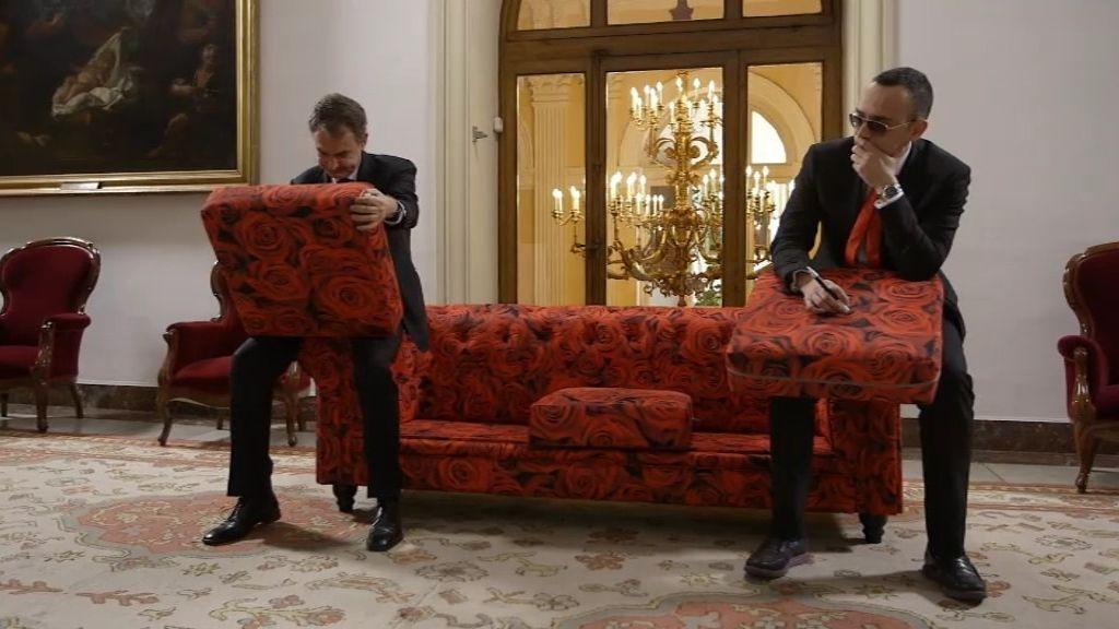 La dedicatoria de Zapatero y Risto Mejide