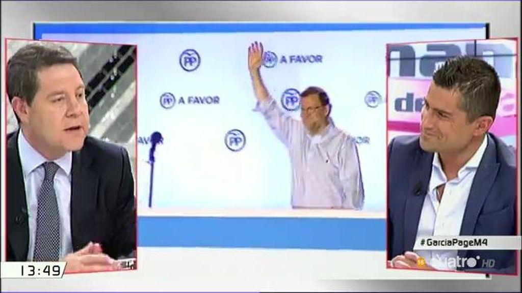 """García-Page: """"Si me dan a elegir entre Rajoy y Aznar, me quedo con Rajoy"""""""