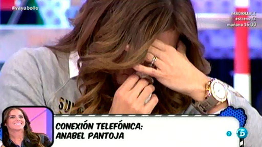 Anabel Pantoja llama a 'Sálvame' para apoyar a su amiga Raquel Bollo