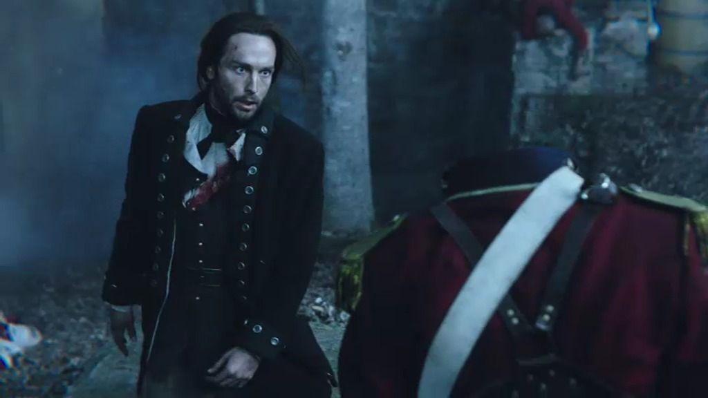 Ichabod Crane pelea con un jinete misterioso en la Guerra de Independencia