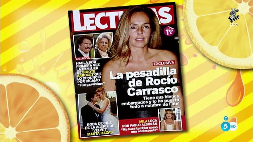 Según la revista 'Lecturas', Rocío Carrasco tiene todos sus bienes embargados