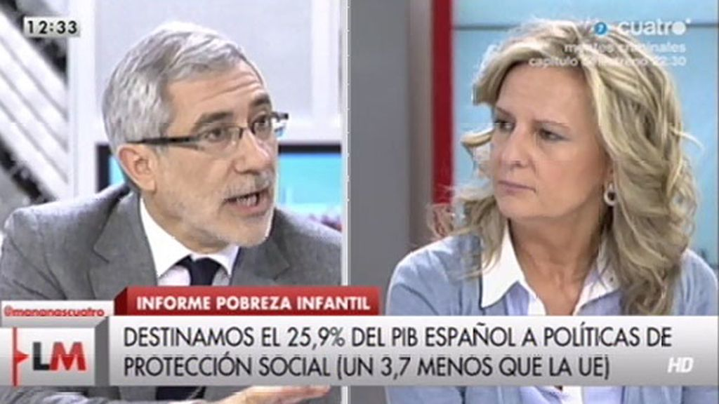 """Isabel San Sebastián, a Llamazares: """"Hay que huir de demagogias partidistas"""""""