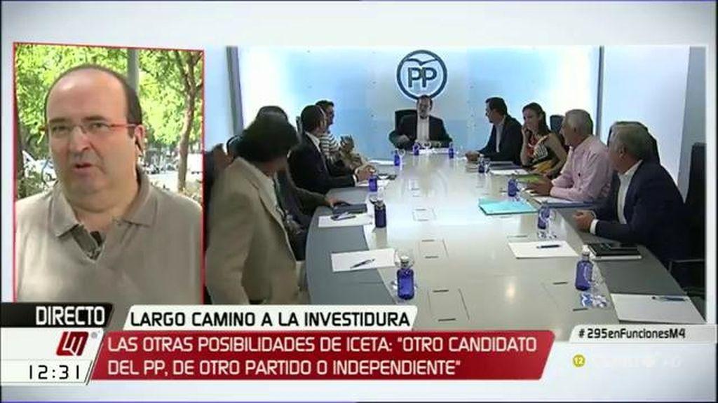 """Iceta: """"Quiero salir del falso dilema entre Rajoy o terceras elecciones"""""""