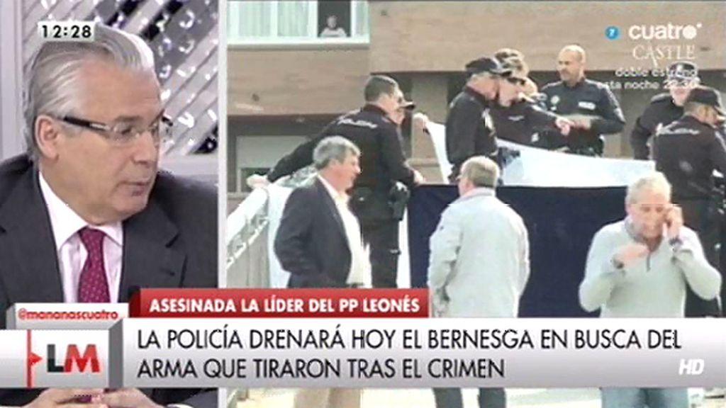 """Garzón, sobre el asesinato de Isabel Carrasco: """"Hay una clara premeditación"""""""