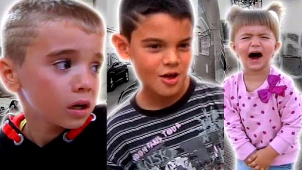 Daniel, Cristian y Samara, unos niños inquietos que desesperan a sus padres