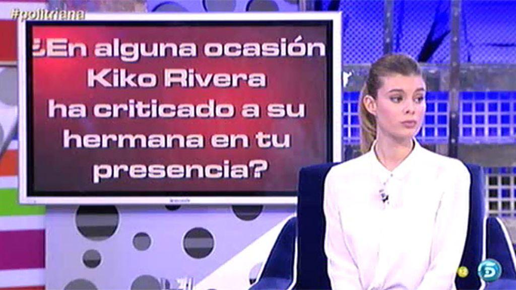 Kiko Rivera habló mal de Chabelita en presencia de Triana, según el 'PoliDeluxe'
