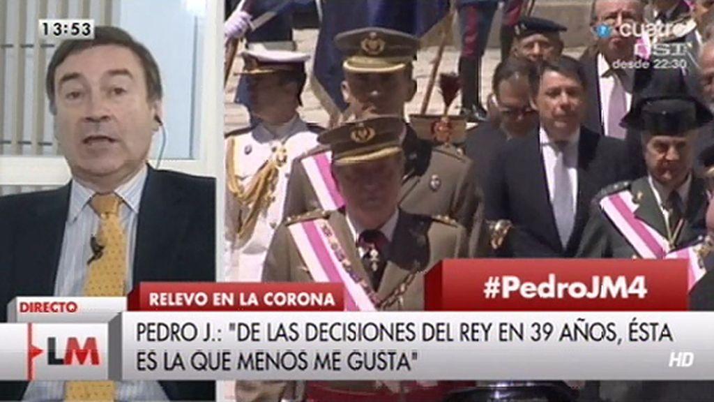 """Pedro J.: """"La abdicación del Rey me ha recordado más a la dimisión de un político"""""""