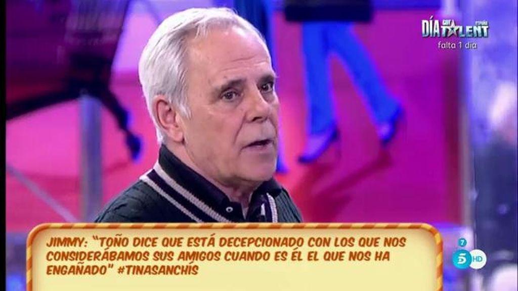 """Jimmy Giménez Arnau, de Toño Sanchís: """"Toño sobre todo es un 'paleto"""""""