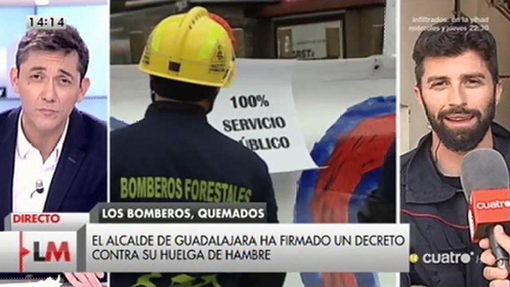 Los bomberos de Guadalajara, en huelga de hambre