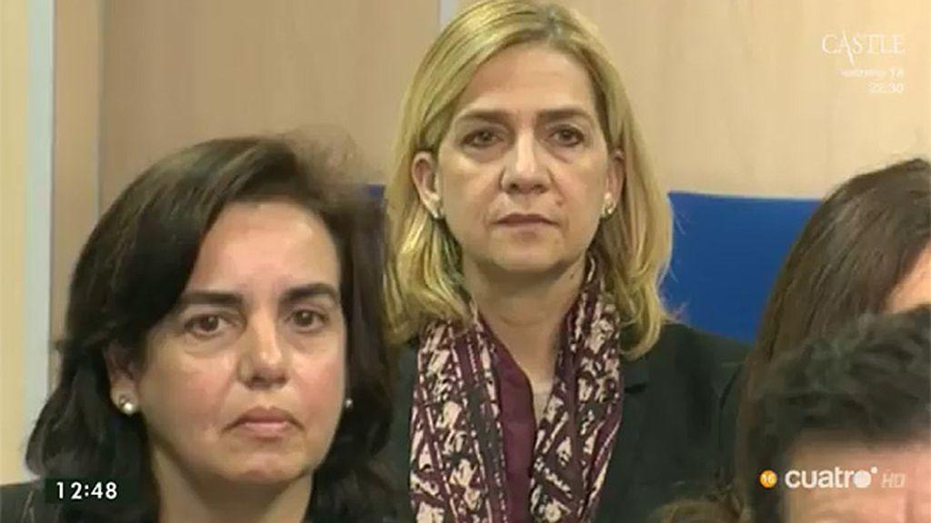 La actitud de la Infanta Cristina durante las 12 horas de sesión