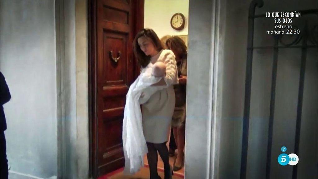 Alessandro Lequio y María Palacios celebran el bautizo de su hija Ginevra en Roma