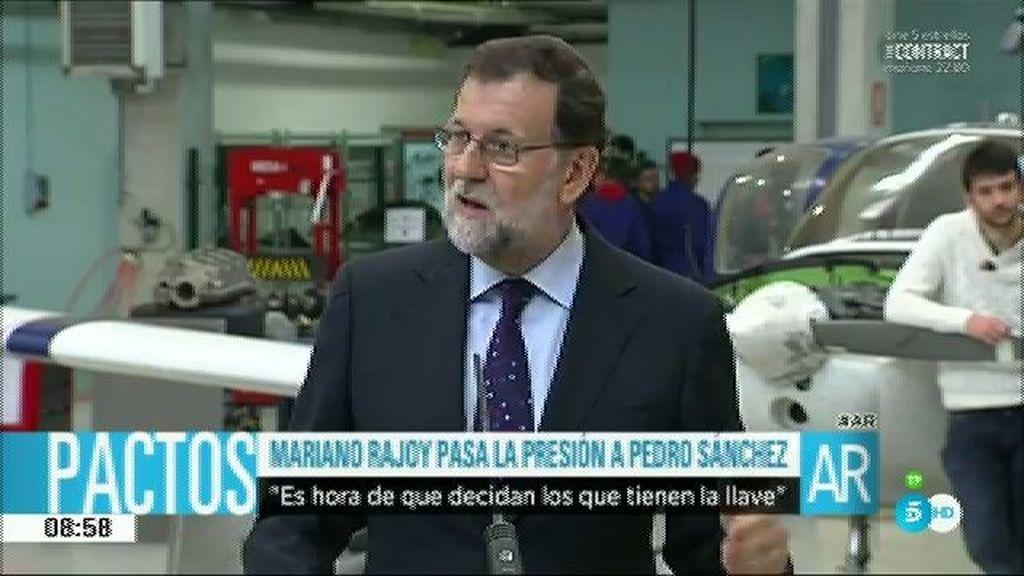 """Mariano Rajoy: """"Quien tiene la llave debe elegir con quien asociarse"""""""
