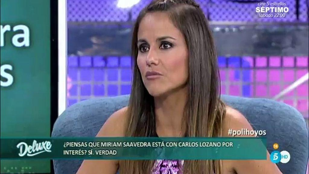 Mónica Hoyos ha llegado a pensar que Miriam está con Carlos por interés