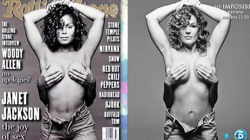 Raquel Bollo, como Janet Jackson